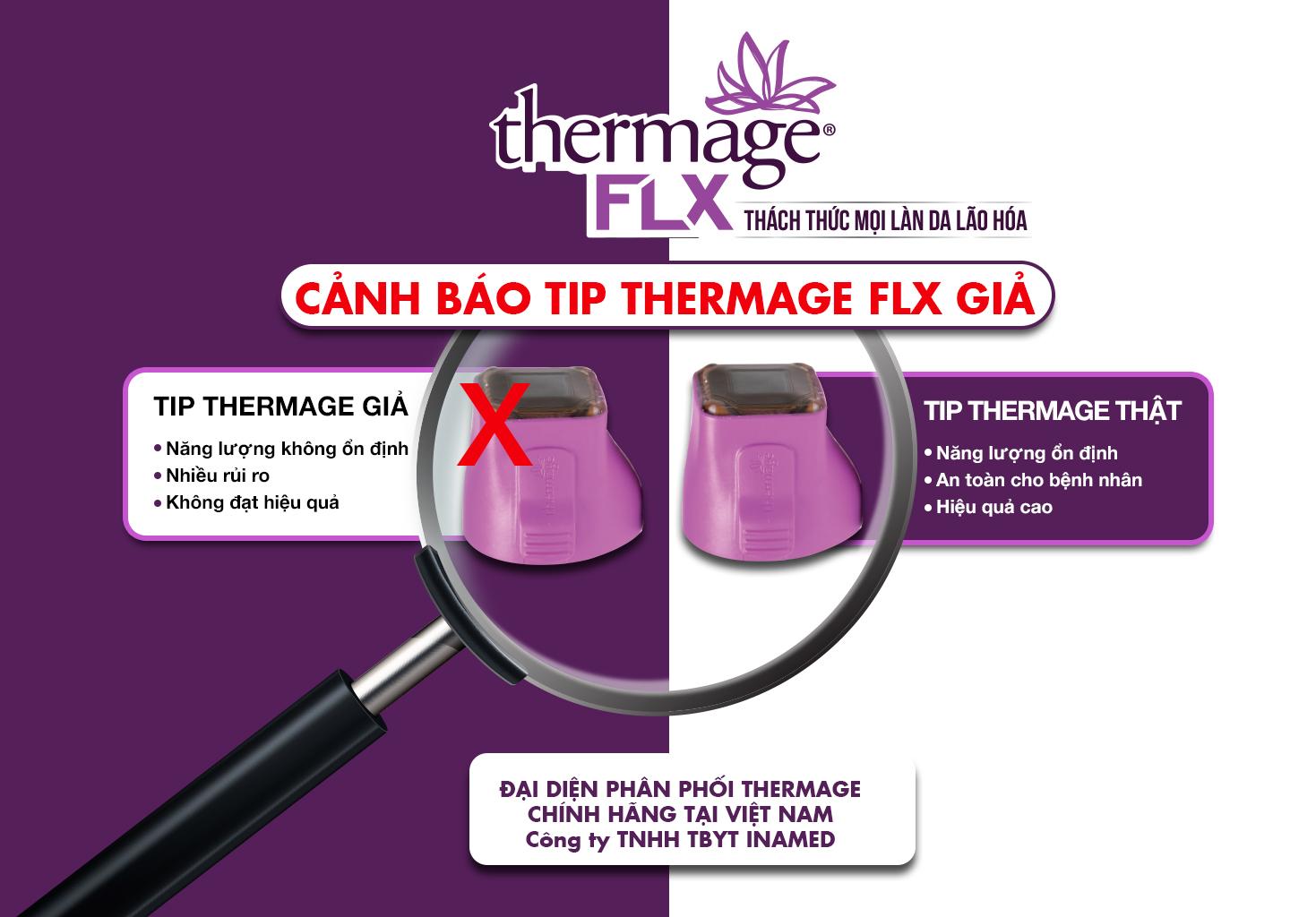 Cảnh báo Tip Thermage FLX giả